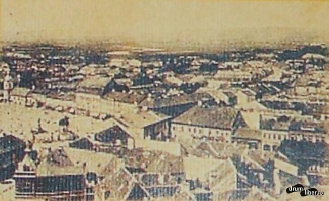 Vedere de sus Targu Mures 1901
