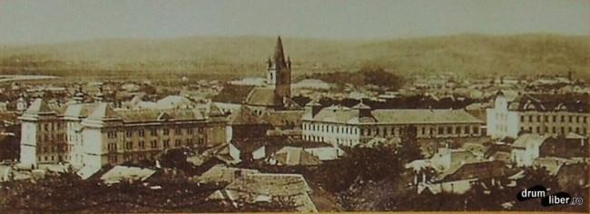 Vedere de sus Targu Mures 1923