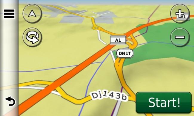 A1 - nodul rutier Șura Mică în hărțile GPS Garmin 2014 - RO.A.D.2014.10 (Garmin-Nuvi-3790)