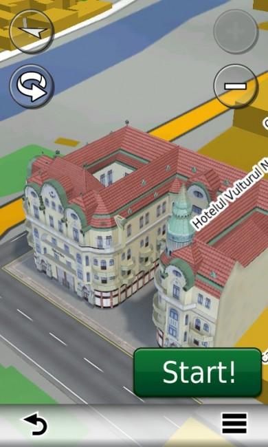 Palatul Vulturul Negru din Oradea în hărțile GPS Garmin 2014 - RO.A.D.2014.10 (Garmin-Nuvi-3790)
