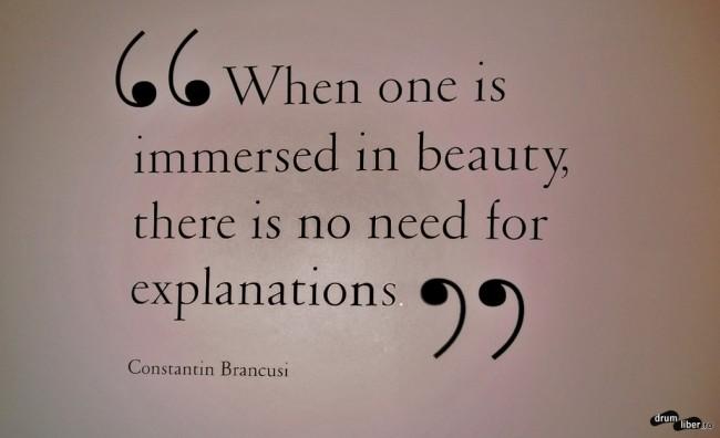 Când cineva este scufundat în frumusețe, nu este nevoie de explicații (Galeriile Paul Kasmin).
