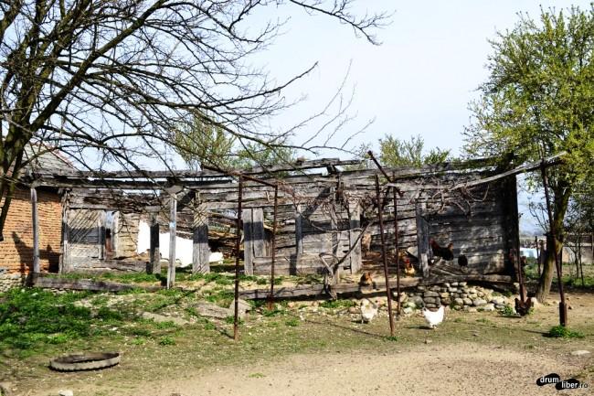 Casa surorii, cu cele patru bârne salvate din casa părintească
