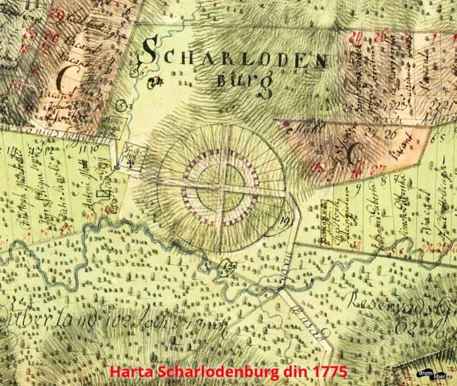 Harta Charlotenburg (Scharlodenburg - Șarlota) din 1775