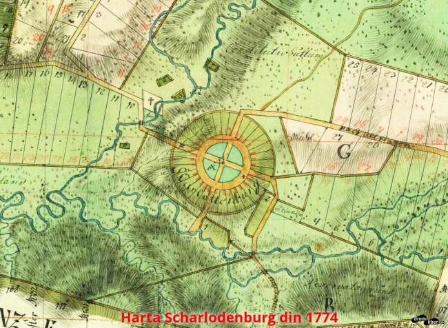 O altă hartă cu Charlotenburg - Șarlota, corectată în 1784