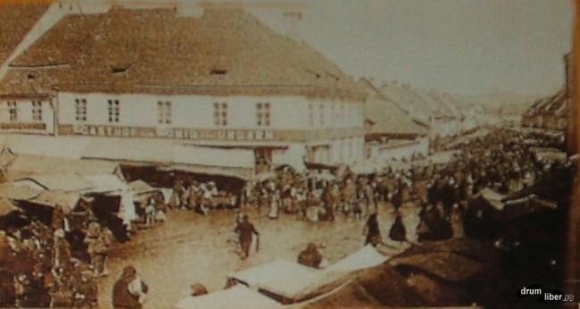 Negustori pe strada principală din Orașul de Jos, 1894