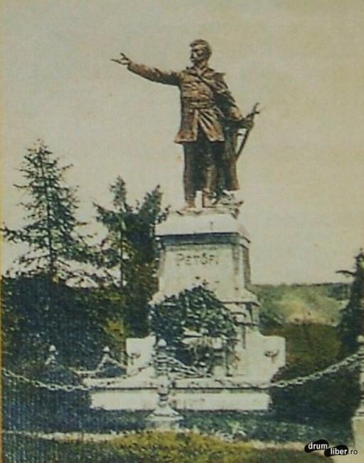 Statuia eroului poet maghiar Petőfi Sándor 1908