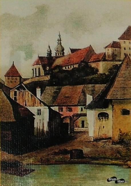 Strada Morii cu Biserica Dominicană (Mănăstirii) la 1880