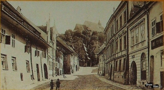 Strada Școlii în 1908