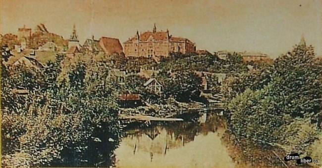 Sighișoara și râul Târnava Mare în 1907
