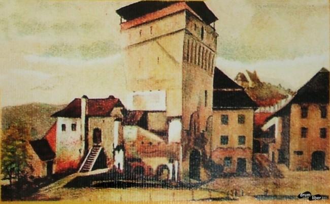 Turnul cu ceas în 1880