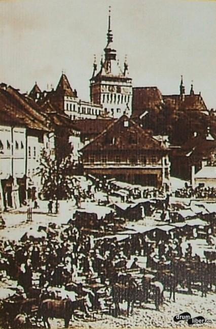 Turnul cu ceas în 1918