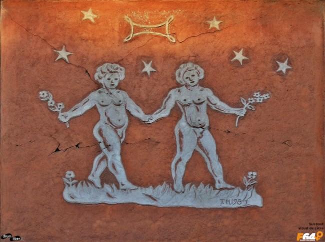 Gemeni pe Blocul Zodiac