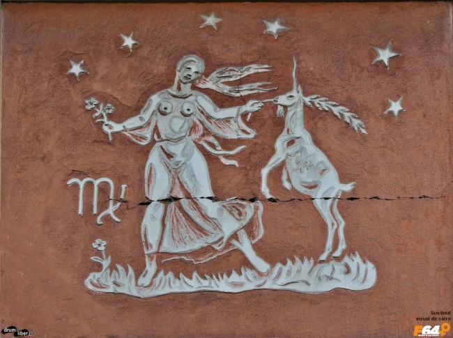 Fecioară pe Blocul Zodiac