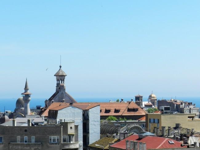 Cum se vede din minaretul Geamiei Hunchiar