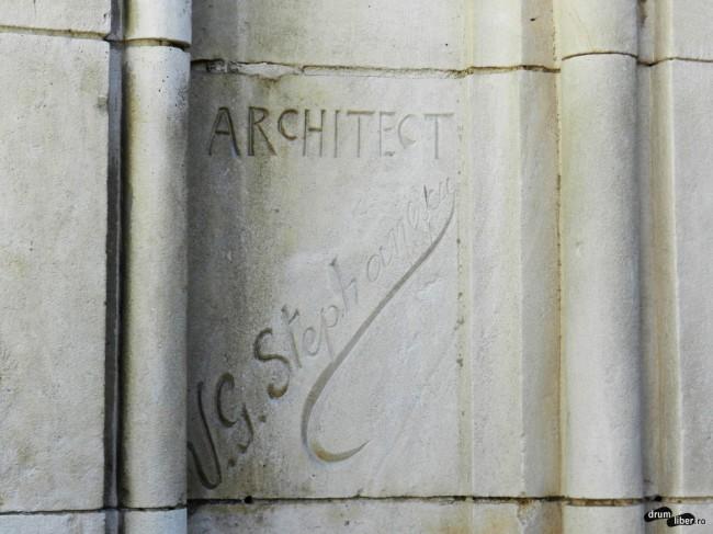Semnătura arhitectului pe moschee