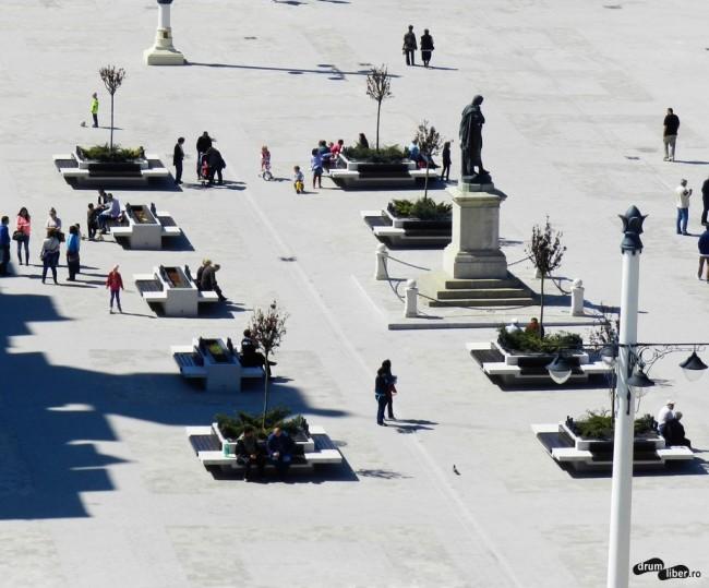 Piața Ovidiu, vedere din minaretul Moscheii Carol I