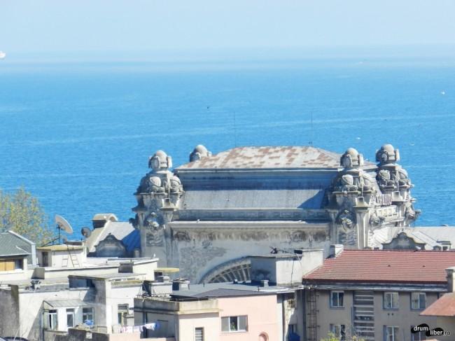 Cazinoul din Constanța, vedere din minaretul Moscheii Carol I