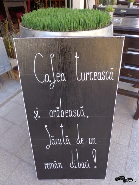 Cafea turcească făcută de un român dibaci