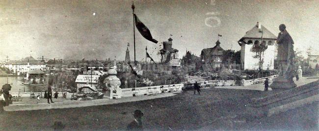 Vedere de la Palatul Artelor din Parcul Carol, 1920