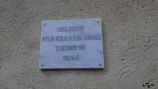 Locul execuției soților Ceaușescu
