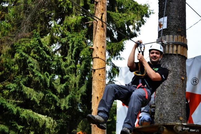 La parcul de aventuri Balu Adventure Park din Harghita Băi