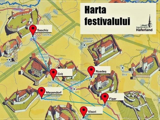 Harta Săptămâna Haferland - Țara Orzului