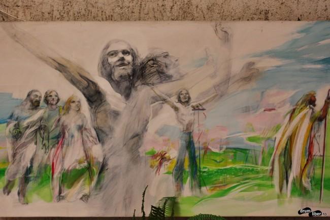 John Lennon, un simbol pictat pe Calea Crucii