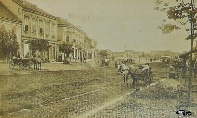 Centrul orașului Reghin în 1910