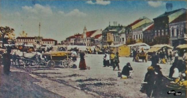Centrul orașului Reghin în 1911