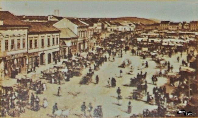 Centrul orașului Reghin în 1924