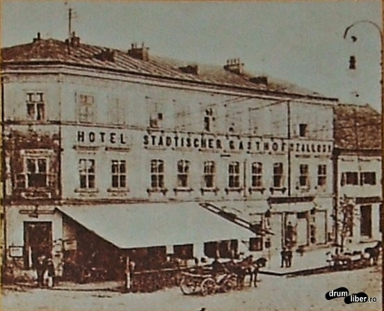 Poze vechi din Reghin - fostul hotel Stadtischer Gasthof în 1904
