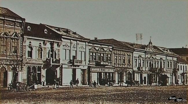 Poze vechi din Reghin - clădiri din centru în 1910