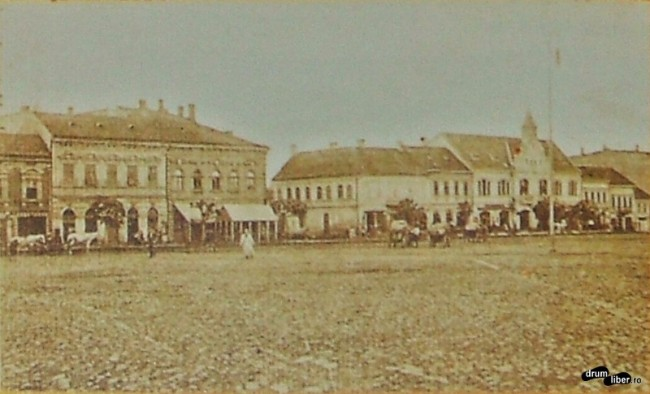 Poze vechi din Reghin - piața centrală în 1910