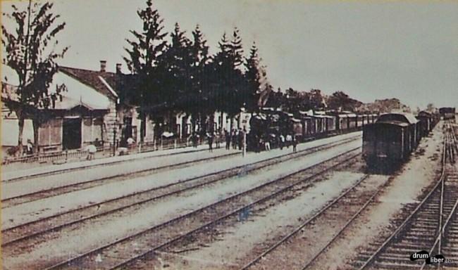Poze vechi din Reghin - Gara în anul 1923