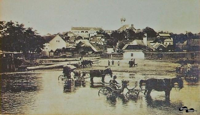 Spălatul trăsurilor în Mureș în anul 1921
