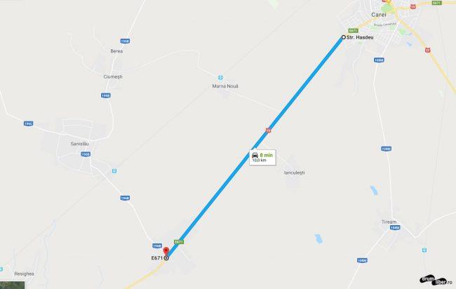 Drumuri lungi în linie dreaptă în Transilvania (Ardeal)