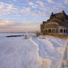 Cazinoul Constanța și Marea Neagră înghețată (sursă: fotografu.ro)