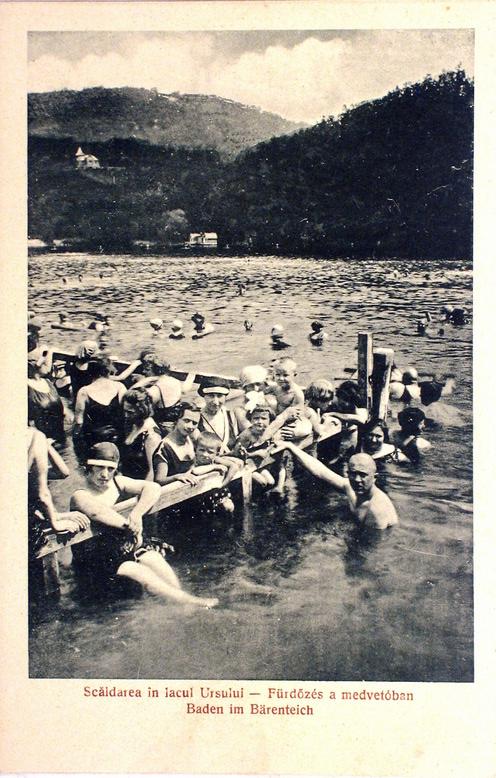 Sovata din trecut - Înot Lacul Ursu