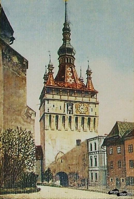 Turnul cu ceas în 1907